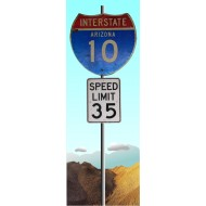 PB102 Posterbanner Arizona Interstate Schild
